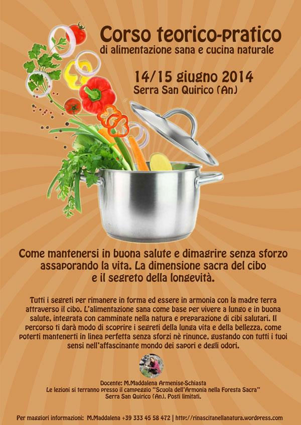 Corso di cucina naturale - La dimensione sacra del cibo e il segreto per la longevità